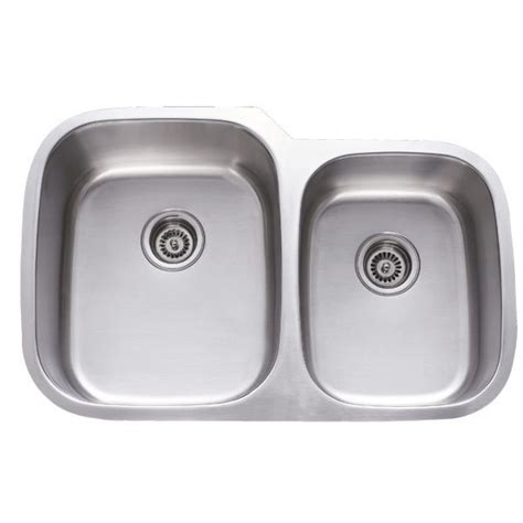 60 40 undermount sink 31 inch stainless steel undermount 60 40 double bowl