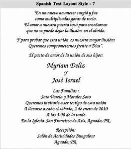 spanish wedding invitation wording theruntimecom With christian wedding invitations in spanish