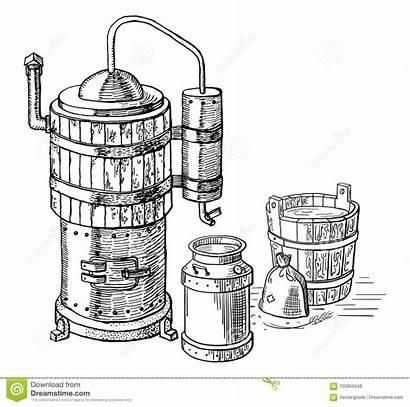 Distillation Illustration Dreamstime Clipart Process