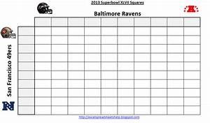 2015 printable superbowl squares autos post With super bowl 2015 squares template