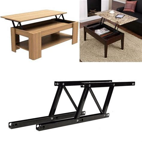 Lift Up Coffee Table Desk Mechanism Diy Fitting Hardware