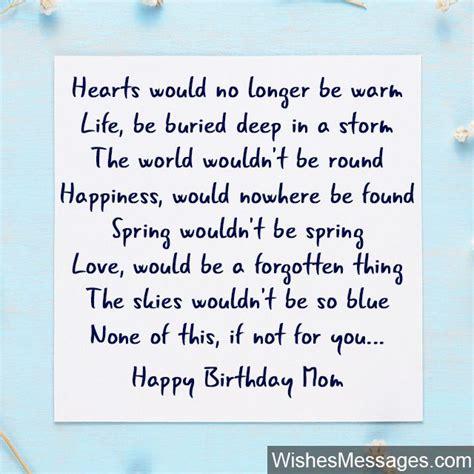 birthday poems  mom wishesmessagescom