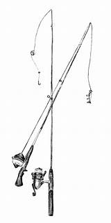 Fishing Pole Coloring Pages Poles Template Rod Sketch Flag sketch template
