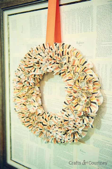 halloween cupcake wrapper wreath fun family crafts