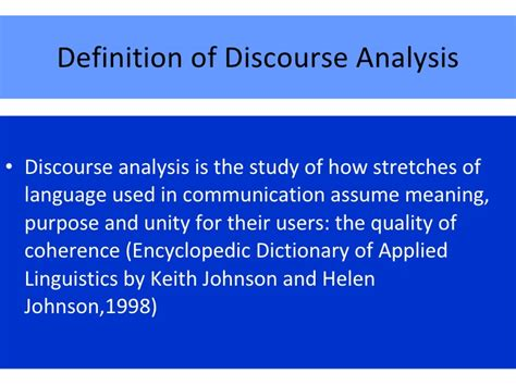 Define The Word Presume by Discourse Analysis