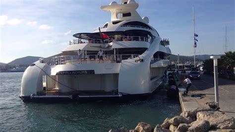 palladium mega yacht docking  marina ibiza  blohm
