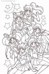 Sailor Coloring Moon Pages Korean Anime Games Toys Any Enlarge Pink sketch template