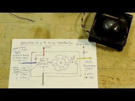 Blue Computer Fan Wire Diagram by 4 Wire Computer Fan Tutorial