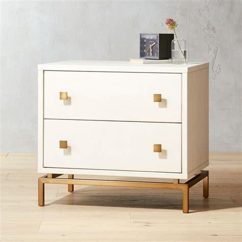 ivory shagreen embossed nightstand reviews cb