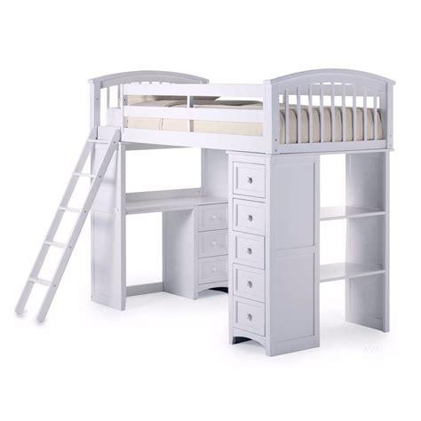 loft bed with desk student loft bed frame with desk kids teens storage bunk