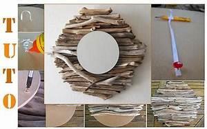 Miroir En Bois Flotté : miroir rond en bois flott id e d co fabriquer ~ Teatrodelosmanantiales.com Idées de Décoration