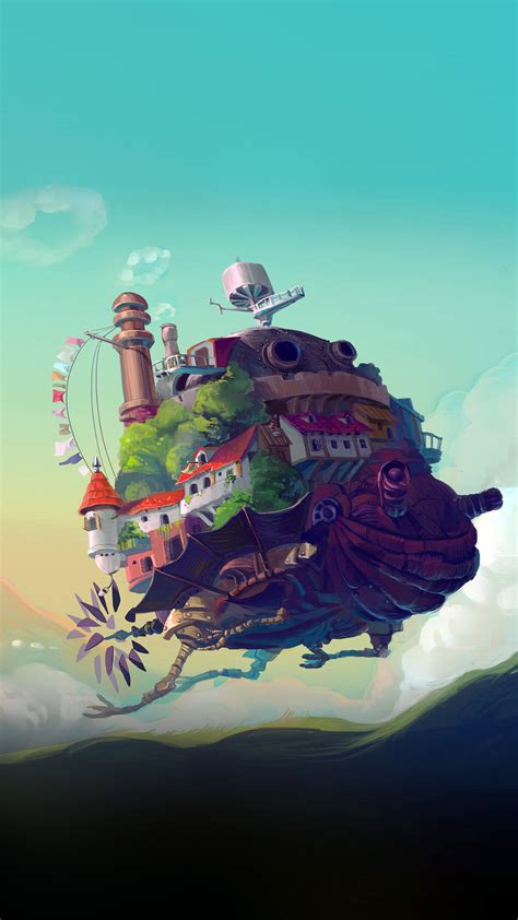 studio ghibli castle anime peace art illustration