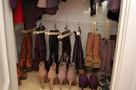 boot hangers for closet organizing your shoe closet boot edition made2style