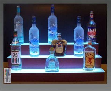 glass bar shelves lighted 32 led lighted three tier back