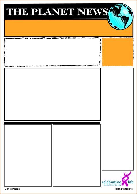 blank newspaper template authorizationlettersorg
