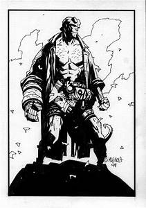 Mike Mignola, Hellboy sketch card | Mike Mignola W&B / N&B ...