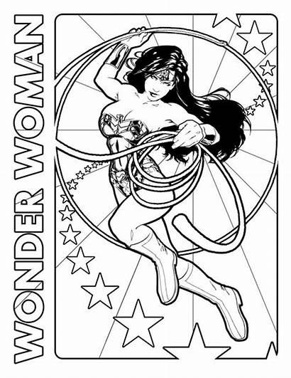 Coloring Wonder Woman