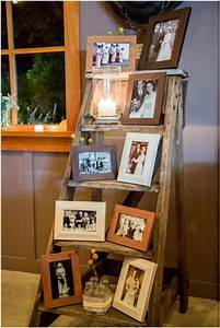 15 creative ways to display your picture frames With idee deco echelle bois