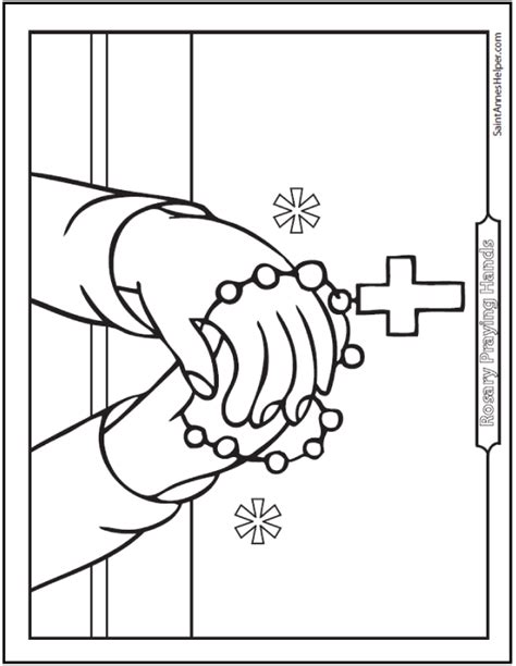 rosary coloring pages  mysteries   rosary