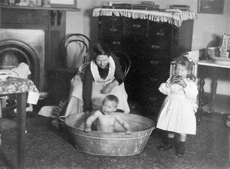 Bath time, 1889 – Washing, cleaning and personal hygiene