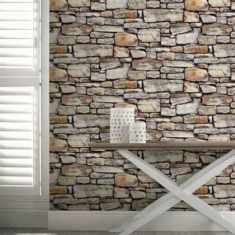 cornish stone effect wallpaper  bq home pinterest