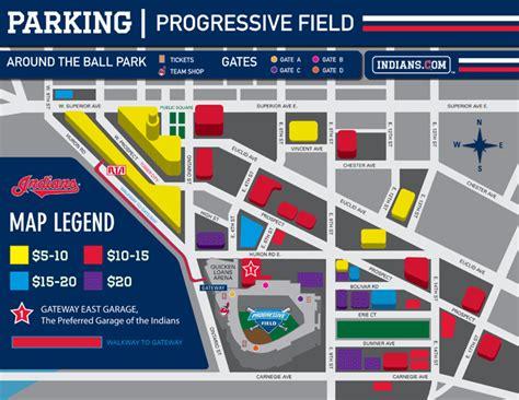 east garage quicken loans arena progressive field parking guide maps tips deals spg