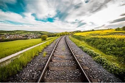 5k 4k Railway Road Background