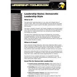 Democratic Leadership   Pearltrees