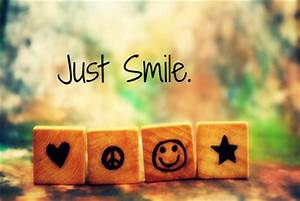 Just Smile - im... Peace And Smile Quotes