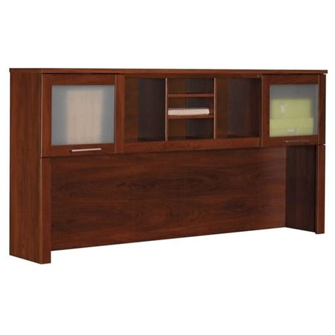 bush somerset desk with hutch bush somerset hutch for 70 inch l desk in hansen cherry