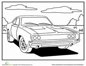 rally car raceway worksheet educationcom