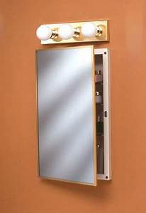 basco incorporated 3quot recessed series medicine cabinets With brass framed medicine cabinet
