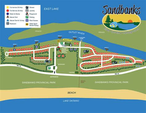 Campground Map  Sandbanks River Country Campground