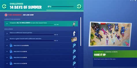 fortnite  days  summer challenges  rewards day