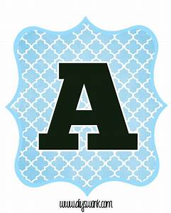 blue and black printable letters for banners printable With letter pennants