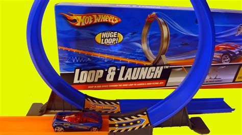 Hot Wheels Loop and Launch Stunt Track Playset with Real ...