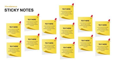 post it note template post it notes powerpoint and keynote template slidebazaar