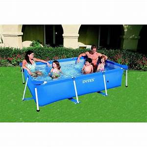 intex 58980fr piscine hors sol tubulaire rectangulaire With petite piscine tubulaire rectangulaire
