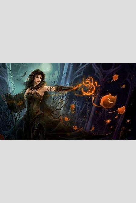 Witch fantasy occult dark art artwork magic wizard mage sorcerer women woman girls girl female ...