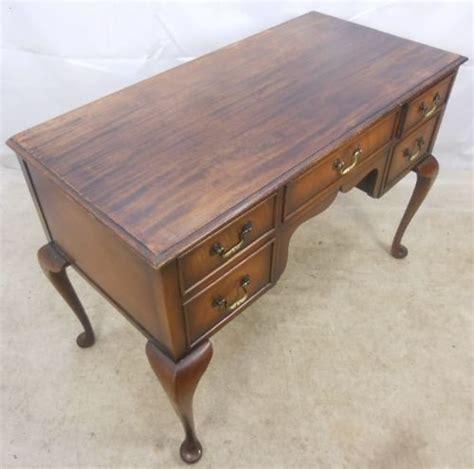 queen anne writing desk queen anne style walnut kneehole ladies writing desk