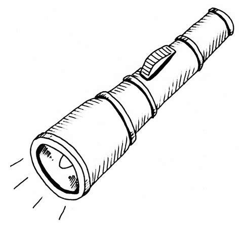 Flashlight Clipart Black And White Animehanacom