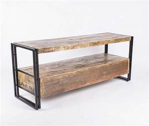 Möbel Im Industriedesign : wandkonsole tv lowboard aus massivholz im industriedesign mit 3 schubladen tv schr nke ~ Orissabook.com Haus und Dekorationen