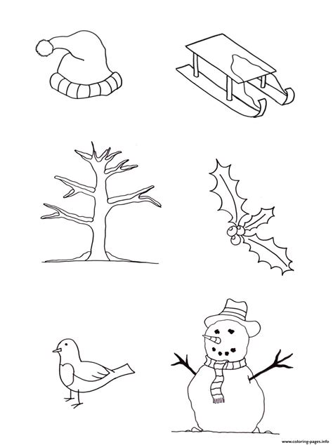 winter  kids freea coloring pages printable