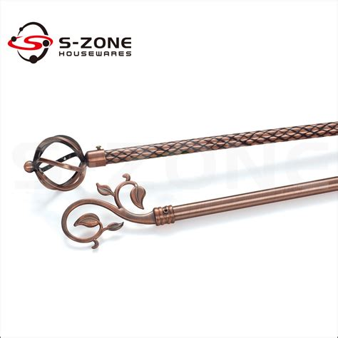chrome drapery curtain iron pole pipe decorative iron