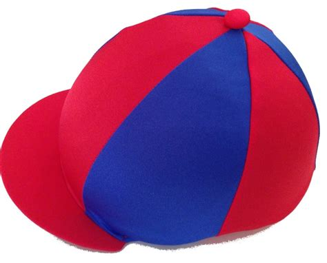 Grafton Hunt Lycra Hat Silk Red Royal Blue.with Alternate