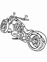 Coloring Motorcycles Printable Cross sketch template
