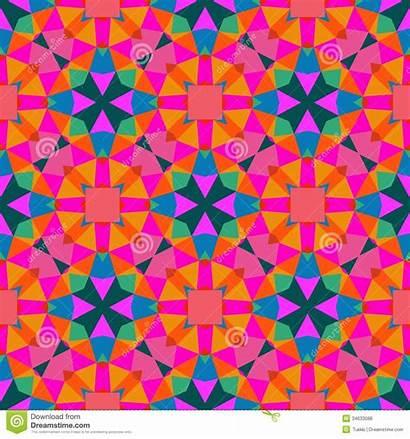 Pattern Geometric Bright Geometrico Texture Children Seamless