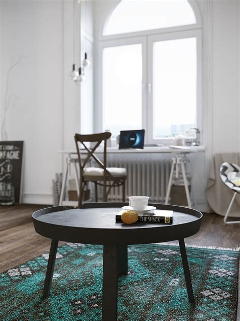 Stylish Scandinavian Apartment In Murmansk by Chic Scandinavian Studio With Lofted Bed
