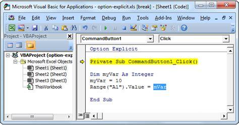 excel vba option explicit easy excel macros