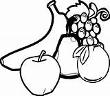 Fruit Coloring Any Vegetables Wecoloringpage sketch template